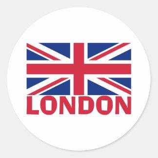 London i rött runt klistermärke