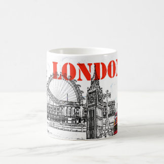 london kaffemugg vit mugg
