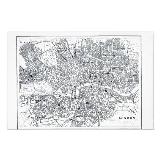 London karta fototryck