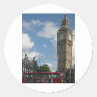 London öga & stora Ben Runt Klistermärke