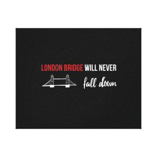 London överbryggar den ska aldrig nedgången canvastryck
