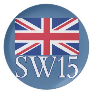 London Postcode SW15 med den fackliga jacken Tallrik