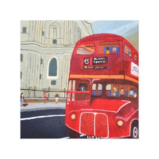 London röd busskanvastryck canvastryck