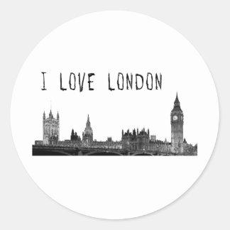 London Runt Klistermärke