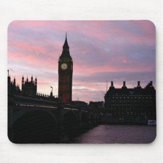 London solnedgång musmatta