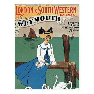 London & Southwestern ~ Weymouth Vykort