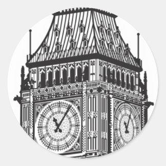 London stora Ben illustration Runt Klistermärke