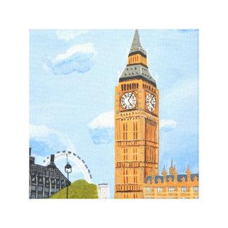 London stora Ben kanvastryck