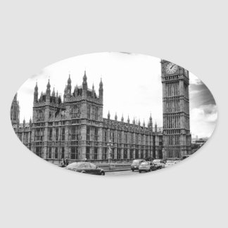 London stora Ben Ovalt Klistermärke