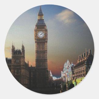 London stora Ben Solarised Runt Klistermärke