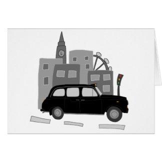 London taxiplats hälsningskort