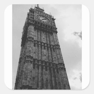 London themed gåvor och bröllopfavörer fyrkantigt klistermärke