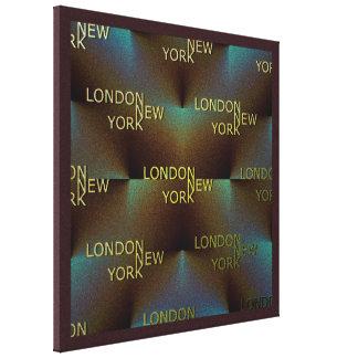 London till New York Canvastryck