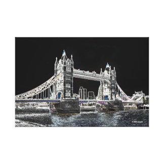 London - torn överbryggar canvastryck