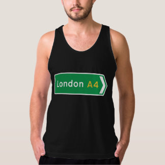 London UK vägmärke Tank Top