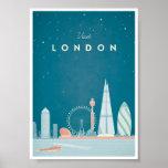London vintage resoraffisch poster
