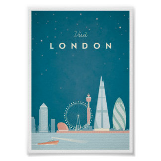 London vintage resoraffisch poster