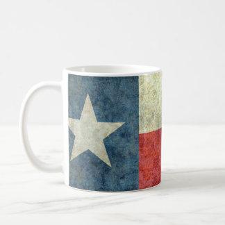Lone stjärnastatlig flagga för vintage av Texas Kaffemugg