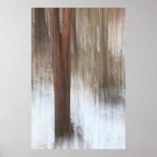 Lone träd i snöabstrakt poster