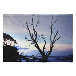 Lone träd på kust bordstablett