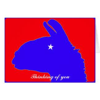 Lonestar Llama av Texas med stjärnaögat Hälsningskort