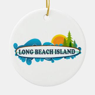 Long Beach Island. Julgransprydnad Keramik