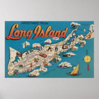 Long Island New York - hälsningar från Poster