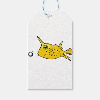 LonghornCowfish Presentetikett