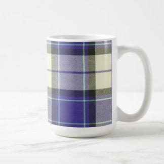 Longniddry purpurfärgad Tartanmugg Vit Mugg