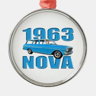 longroofvagn för nova 1963 chevy II Julgransprydnad Metall