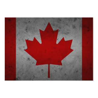 Lönnlöv för kanadensare för Kanada Grungeflagga 12,7 X 17,8 Cm Inbjudningskort