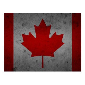 Lönnlöv för kanadensare för Kanada Grungeflagga Vykort