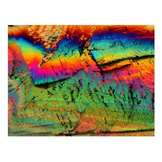 lönnsirap under ett mikroskop vykort