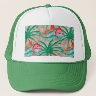 Look för FlamingopalmträdBurlap Keps