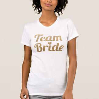 Look för glitter för lagbrud guld- tee shirts