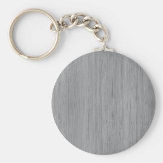 Look för korn för grå bambu för aska Wood Rund Nyckelring