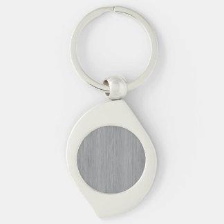 Look för korn för grå bambu för aska Wood Swirl Silverfärgad Nyckelring
