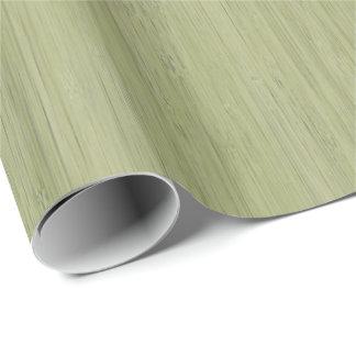 Look för korn för grön bambu för Moss Wood Presentpapper
