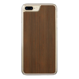 Look för korn för mörk valnötbruntbambu Wood Carved iPhone 7 Plus Skal