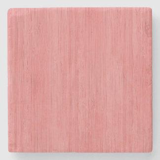 Look för korn för rosa bambu för korall Wood Underlägg Sten