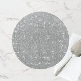 Silver Glitter Sparkle Metal Metallic Look