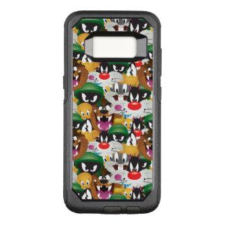 LOONEY mönster för TUNES™ Emoji OtterBox Commuter Samsung Galaxy S8 Skal