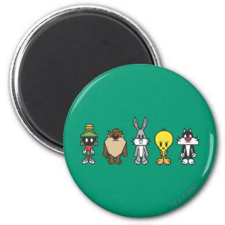 LOONEY Op TUNES™-gruppfoto Magnet Rund 5.7 Cm