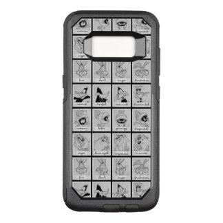LOONEY TUNES™-teckensinnesrörelse kartlägger OtterBox Commuter Samsung Galaxy S8 Skal