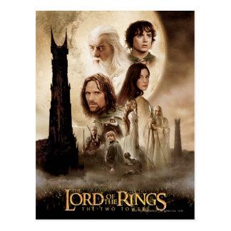 Lord av ringarna: Filmaffischen för två torn Vykort