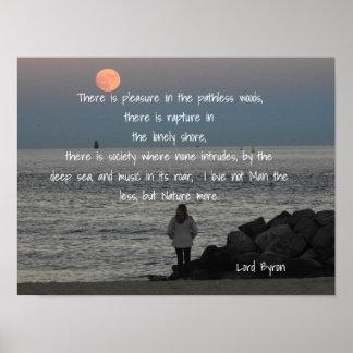 Lord Byron - citationstecken - konsttryck Poster