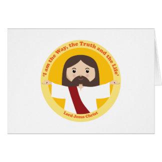 Lord Jesus Kristus Hälsningskort