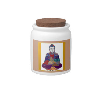 Lord Lärare Meditation för BUDDHA ledar- Yogaande Godisskål