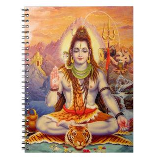 Lord Shiva Meditera Anteckningsbok