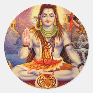 Lord Shiva Meditera Klistermärke